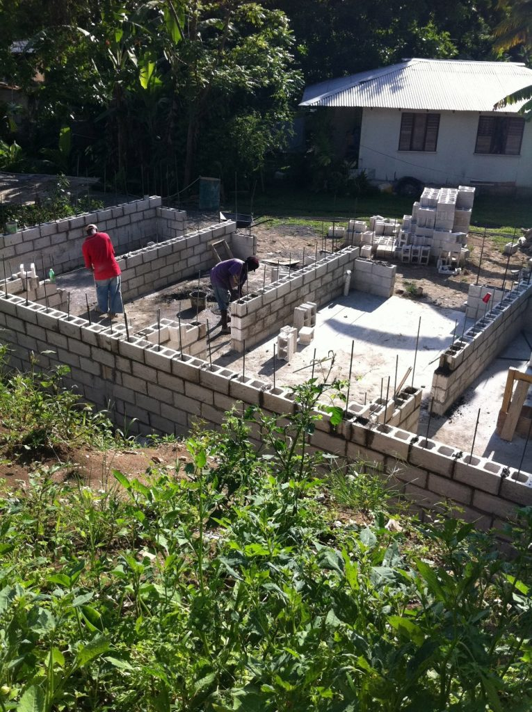 Progess of the foundation for the house